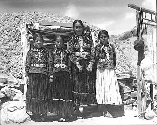 Navajo women and girls at Tuba City