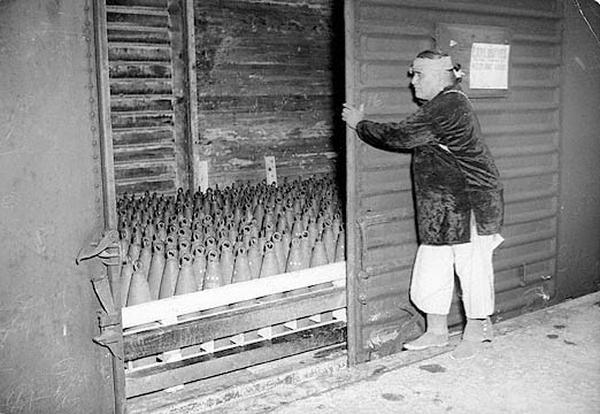 Francisco Castillo, 62 year-old Navajo Medicine man employed as an ammunitions handler at Wingate Ordnance Depot. 1944