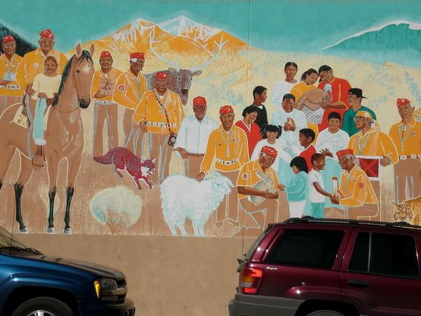 Fresque en l'honneur des combattants navajo, Gallup, 2007.