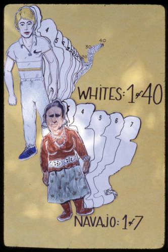 Brochure sur les dangers du diabète, 1 Navajo sur 7 touché dans les années 1980. Cline Library Archives