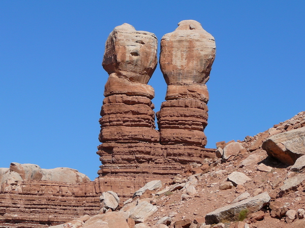 Navajo twin rocks, Bluff, Utah