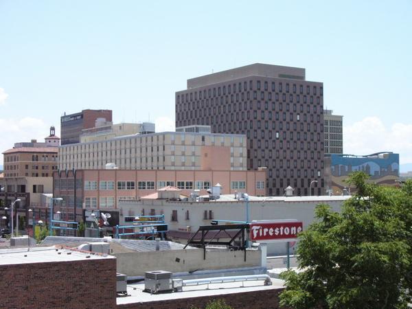 Centre-ville d'Albuquerque, photographié en juillet 2007.