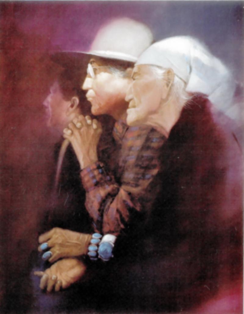 """Clifford Beck, Twilight. """"Je préfère faire le portrait de personnes âgées, celles qui ont gardé les traditions intactes en dépit de la pression extérieure (...) Elles sont très fières, c'est ce que je voulais retranscrire ici."""""""