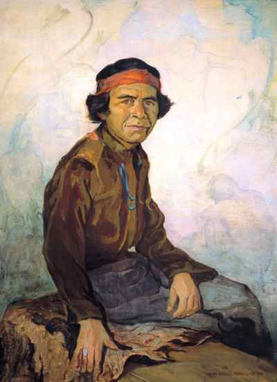 Mary-Russell Ferrell Colton, Edmund Nequatewa, 1942.© Museum of Northern Arizona.