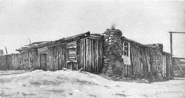 Le studio de photographe d'E.A. Burbank à Ganado.