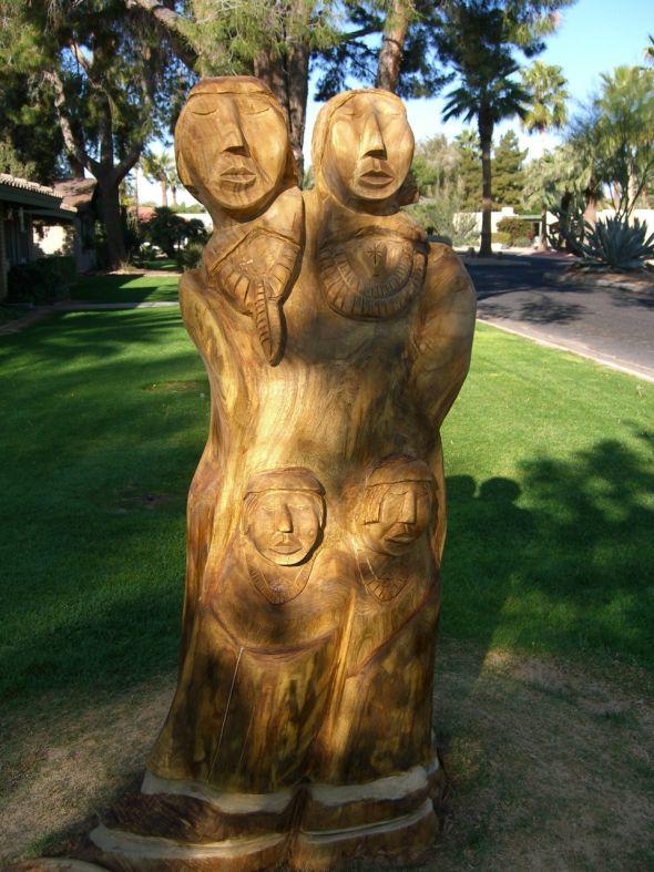 Sculpture d'un mètre 80 réalisée pour le Litchfield Park, Arizona.
