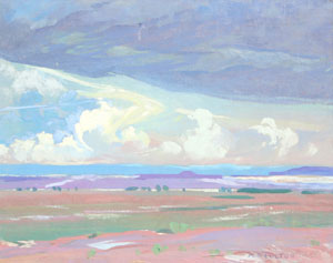 Mary Russell-Ferrell Colton, Painted Desert, Oil on Canvas, c. 1920.