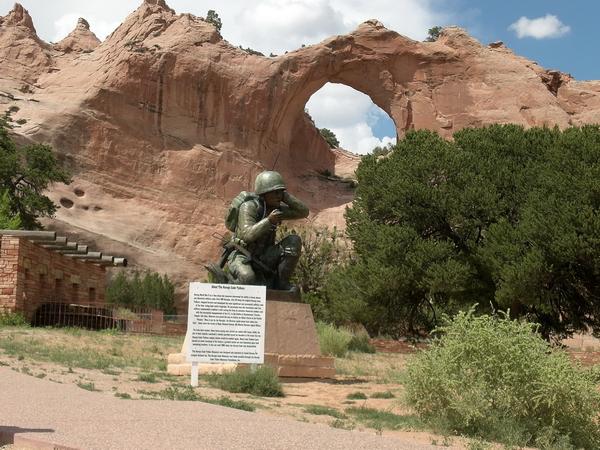 Hommage aux Navajo Code Talkers, Window Rock, juillet 2006.