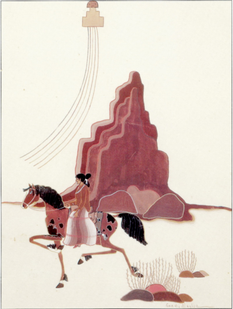 Woman at Shiprock, Gérard Naylor, 1936, aquarelle.