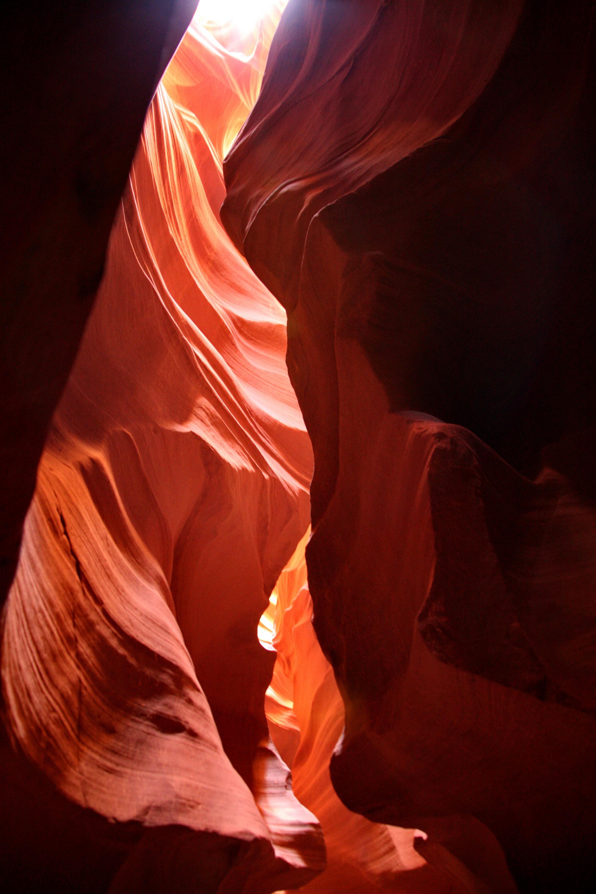 A l'intérieur d'Antelope Canyon...