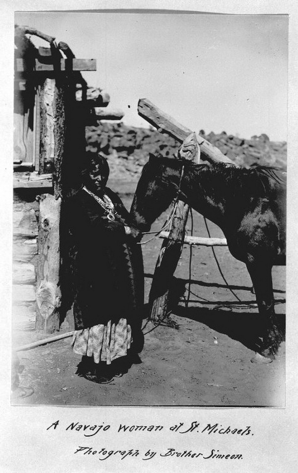 A Navajo woman at St Michaels, Photograph by Brother Simeon