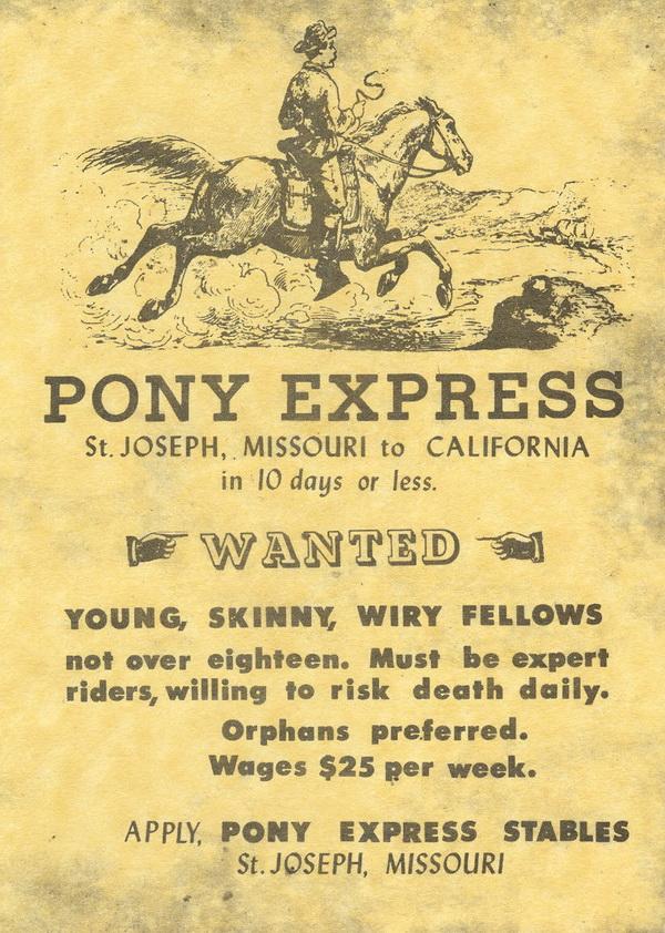 Affiche Pony Express