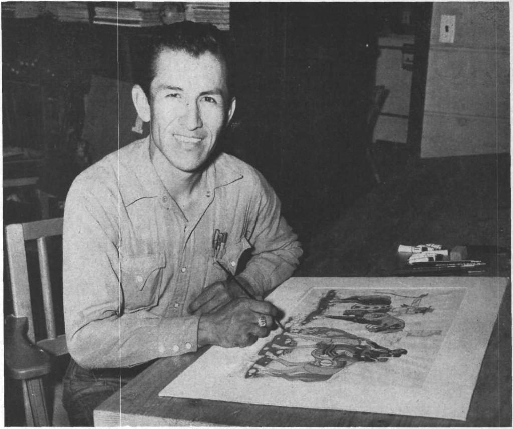 Hoke Denetsosie, photographié par Edgar Ellinger Jr, pour le reportage publié dans Desert Magazine en juillet 1952.