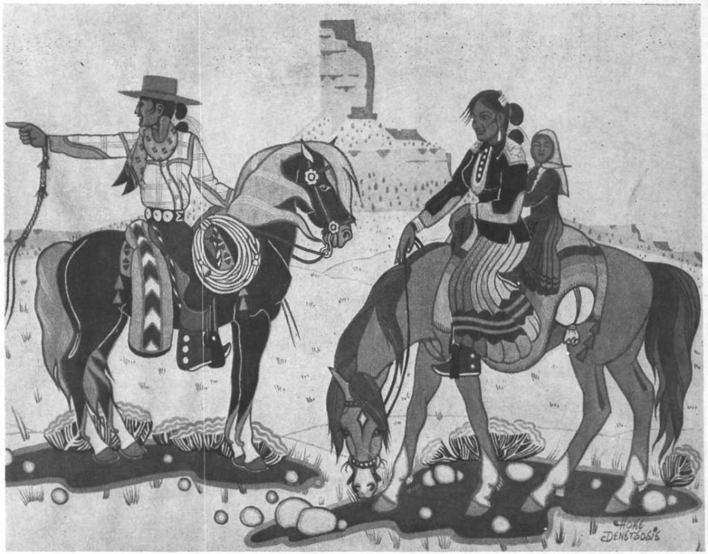 navajo travelers by Hoke Denetsosie