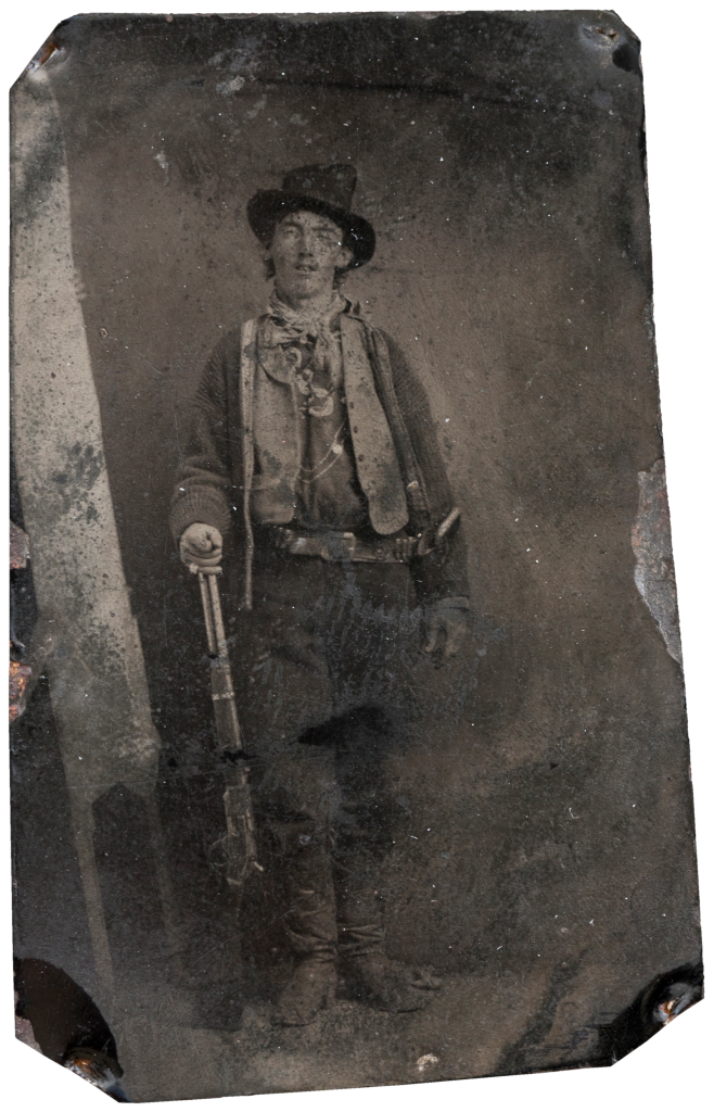 La seule photographie (Ferrotype) qui nous est parvenue de Billy the Kid.